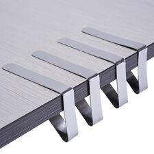 4X Edelstahl Tischtuch Tischdecke Klammern Tischklammer Halter Clip Tisch Design