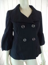 WHITE HOUSE BLACK MARKET Jacket XS Cotton Stretch Puff Sleeves SWING RETRO CHIC!