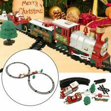 Christmas Electric Track Train Classic Rail Light Music Kid Gift Toy Kit Xmas
