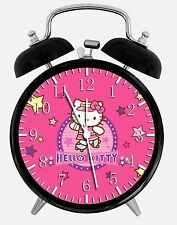 "Pink Hello Kitty Alarm Desk Clock 3.75"" Room Office Decor W29 Nice For Gift"
