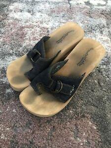 Skechers Spirals Somethin' Else Buckle Slip-On Wedge Sandals Women's 7