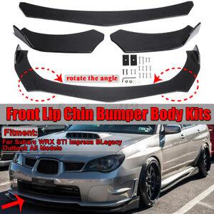 Carbon Fiber Look Car Front Lip Kit Bumper For Subaru WRX STI Impreza BRZ Legacy