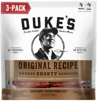 (3) Bags Duke's Original Smoked Shorty Sausages Beef Meat Jerky 5oz/each NEW