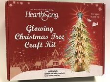 Hearth Song Glowing Wooden Christmas Tree Puzzle Craft Kit 2013 Gift