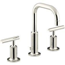 K-14406-4-SN_Kohler Purist widespread bathroom sink faucet w/low gooseneck spout