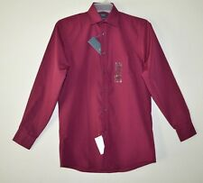 Men's ARROW Regular Fit HENNA Wrinkle Free Dress Shirt Size Small 14-14 1/2