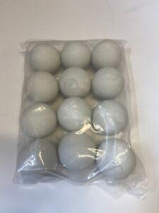 12 x White Lacrosse Balls