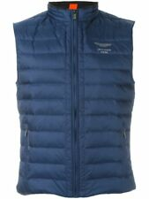 MENS HACKETT ASTON MARTIN RACING GILET SIZE S BLUE DOWN VEST BODYWARMER SMALL