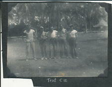 WWII 1945 USAAF 307th BG 424th BS Morotai Photo #28 Tent C12 group of guys