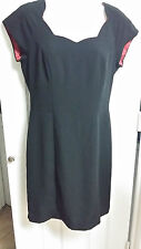 Postive Attitude Black Polyester Dress Size 10 WC816