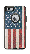 Skin Decal Wrap for Iphone 6 6S Otterbox Defender Case American Flag Vintage.
