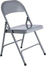 Habitat Macadam Grey Metal Folding Chairs X 2