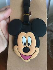 Disney mickey mouse head silica gel luggage tags Baggage Tag brand