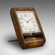 Vintage Art Deco Travel Clock, Franco-Swiss, 8 Day, Jaeger LeCoultre, Asprey