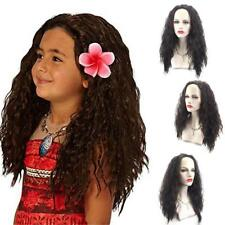 Moana Maui Cosay Long Messy Afro Kinky Curly Girl Black Hair Wig Costume :