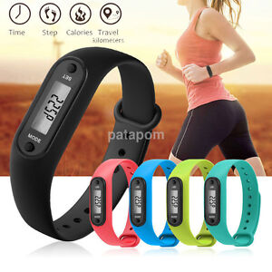 Hot Silicone Run Step Watch Bracelet Pedometer Waterproof Pedometer Wristband US