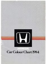 Honda Colour Trim 1984 UK Foldout Brochure Jazz Civic Shuttle CRX Accord Prelude