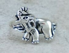 UNIQUE 925 STERLING SILVER DETAILED ELEPHANT RING size 10 style# r2807
