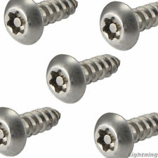 """#8 x 1/2"""" Security Screws Torx Button Head Sheet Metal Stainless Steel Qty 25"""