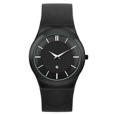Italian Quartz Unisex Analogue Stainless Steel Milanese Mesh Band Wristwatch