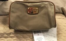 Michael Kors Abbey Large Travel Pouch Nwt Tan Gift Receipt Incl.