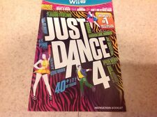 (NO GAME) Just Dance 4 - Nintendo Wii U Instruction Book manual