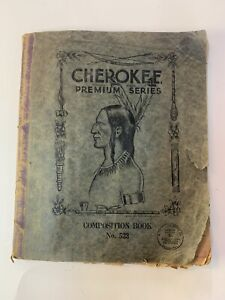 Antique  Jackson Mississippi School Supplies Co Cherokee Composition Book 1931