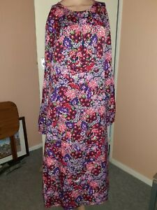Studio Women's Long Sleeve Empire Dress Sizes 14 - 24 Blu15560