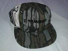 Vintage 1980 Men Raymond Rebark JIM CRUMLEY Camouflage Hunting Snap Back Hat USA