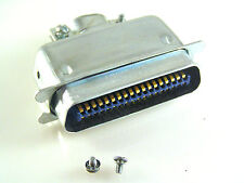 Amphenol 57-30360 Type 36 Way SCSI Cable mount Plug & Cover OM510V