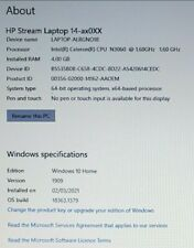 Hpstream laptop, 14axoXX, and charge cable, see photo 1 for laptop info,