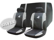 Roadstar WRX 6 Pc Car Seat Cover Set Silver Black