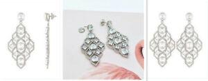 Authentic Henri Bendel Classic Diamond Chandelier Earrings