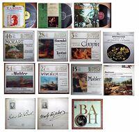 14 dischi 33 giri vinile - BACH- MOZART -WAGNER -CIAIKOVSKI -,, varie etichette