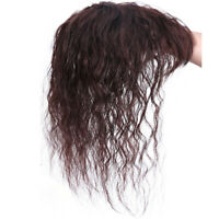 Women 25cm Clip in Curly Human Hair Toupee Topper Top Hair Piece Hair Extensions