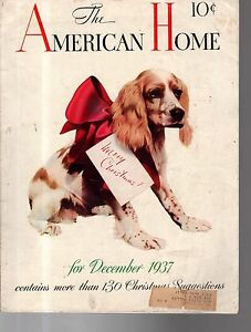 1937 American Home December - Cocker Spaniel for Christmas