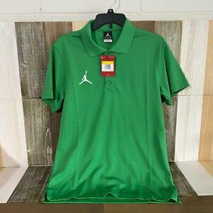 NEW MSRP $55 Air Jordan Polo Shirt Nike Mens Green Size Small Retro AO9225-377