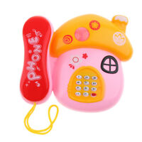 Toy Play Mobile Mushroom Telephone Music Learning for Child Toddle Baby Kid
