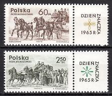 Poland - 1965 Stamp day / Coach - Mi. 1621-22 MNH