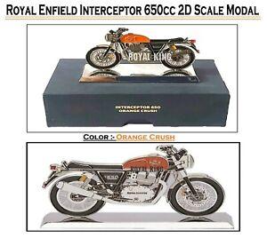 "Royal Enfield Interceptor 650 2D "" Maßstab Modal "" Crush Orange"