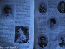 Gloucester Music Festival Rare Old Antique Article 1898 Coleridge Taylor Sunman