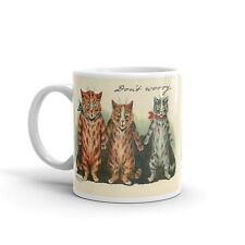 Louis Wain Don't Worry Funny Cats 11 Oz Coffee Mug, Unique Coffee Mugs