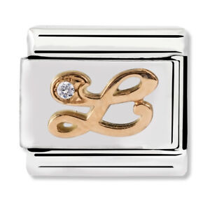 GENUINE Nomination Classic Letter L Rose Gold Steel Charm 430310/12 / £29 RRP
