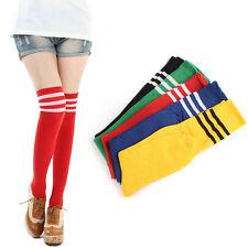 Fashion 1 Pair THIGH HIGH SOCKS Over Knee Girls Womens Cheerleader Stockings HOT