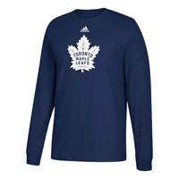Toronto Maple Leafs NHL Adidas Men's Navy Blue Team Primary Logo T-Shirt