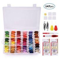 108 Colors Embroidery Cross Stitch Floss+ Organizer Storage Box+Craft Needle Kit