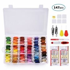 108 Colors Embroidery Cross Stitch Floss+ Organizer Storage Box+Craft Needle Kit
