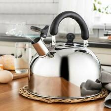 Edelstahl Flötenkessel Wasserkessel Wasserkocher Teekessel Pfeife Induktion 2L