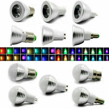 4/1X MR16 E14 E27 GU10 B22 Spot Light RGB Magic LED 16 Colors Bulb AC 85V-265V