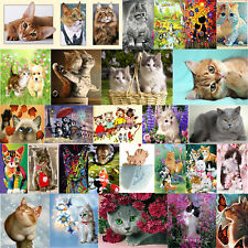 Cat 5D Diamond Painting Embroidery Cross Crafts Stitch Kit Home Decor DIY Gifts